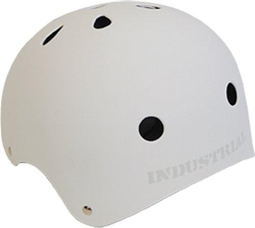 Industrial Flat White Skateboard Helmet [Medium]