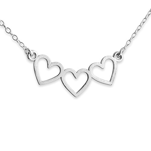 925-sterling-silver-3-open-hearts-charm-pendant-necklace-16-inches