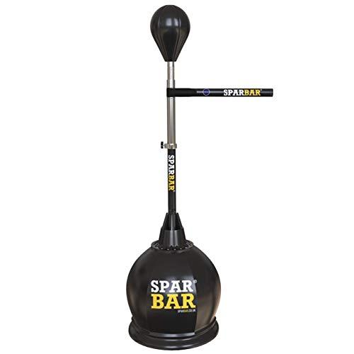 (Sparbar Pro Boxing Dispatch Training Target Reflex Bag Adjustable Height Base Freestanding Punch Bag(Black))