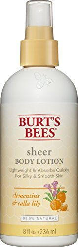 Burt's Bees Sheer Body Lotion, Clementine and Calla Lily, 8 Fluid Ounces (Pack of 3) (Sheer Body Lotion)