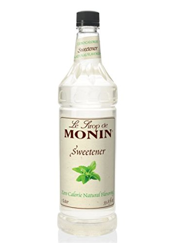 Monin Natural Flavoring Sweetener - Zero Calories, Zero Sugar, No Artificial Ingredients | 33.8 oz (Monin Sweetener)