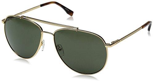 Lacoste Men's L177S Aviator Sunglasses, Gold, 59 ()