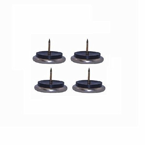 """Nickle Plated Nail-In Nickel Base Chair Glides with 1-1/2"""""""
