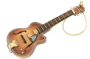 Gift House Acoustic Guitar Ornament - F Hole