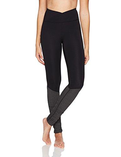 Amazon Brand - Core 10 Women's Icon Series - The Ballerina Yoga Legging, Black, Large