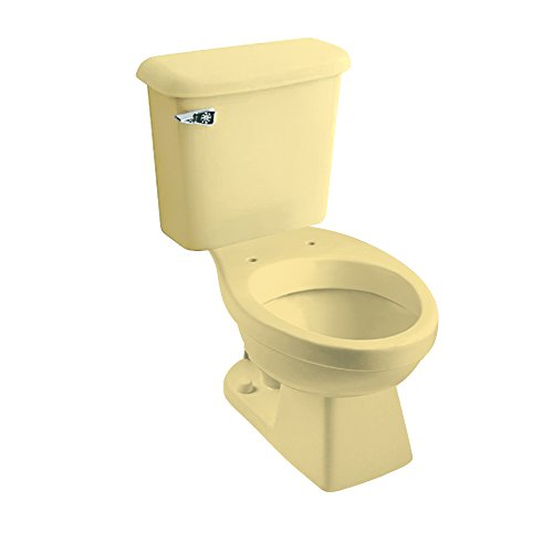 Peerless Pottery 7160-05 Madison Vitreous China Round Toilet Kit with 12-in Rough, Harvest Gold