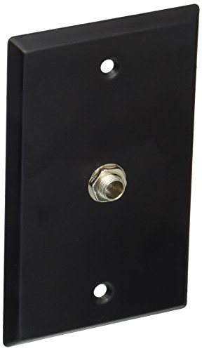 (Seismic Audio SA-PLATE7 Black Stainless Steel Wall Plate with One 1/4-Inch TS Mono Jack)