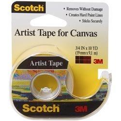 Bulk Buy: 3M (3-Pack) Scotch Artist Tape For Canvas .75in. x 10yd FA2010