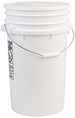 Hudson Exchange Premium 7 Gallon Bucket with Lid, HDPE, White - Extra Large Bucket