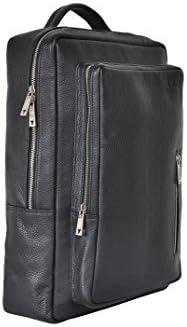 Kiko Leather 602 Black Pebble Grain Leather Backpack