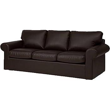 Amazon.Com: Sofa Cover Only! Faux Leather Ektorp 3 Seat Sofa Cover