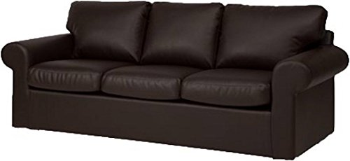 The Ektorp 3 Seat Sofa Cover Replacement is Custom Made for IKEA Ektorp Sofa Cover, an Ektorp Sofa Slipcover Replacement Brown PU ()