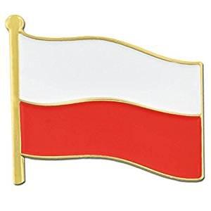Poland Metal Flag Pin/Polskie Flagi Klapy Travel Pin for backpacks, hats, and ties (Polish broach, 0.75