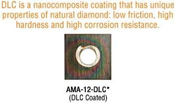 Coated Ins Amana Tool AMA-12-DLC Solid Carbide 4 Cutting Edges Diamond-Like Carbon DLC