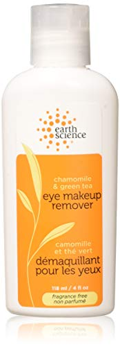 Earth Science Chamomile & Green Tea Eye Makeup Remover - extra gentle, skin-softening formula, 4 oz. (Green Makeup Remover)