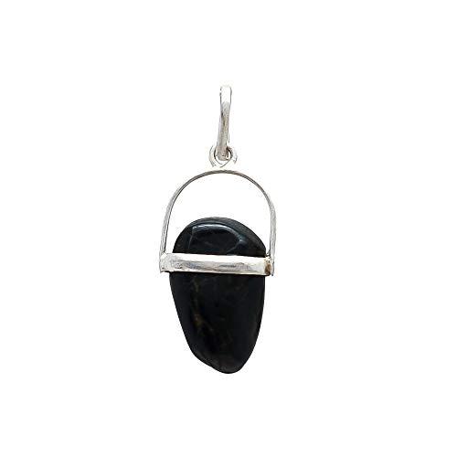 - GemsDiamondsbySHIKHA Raw Black Onyx Healing Pendant