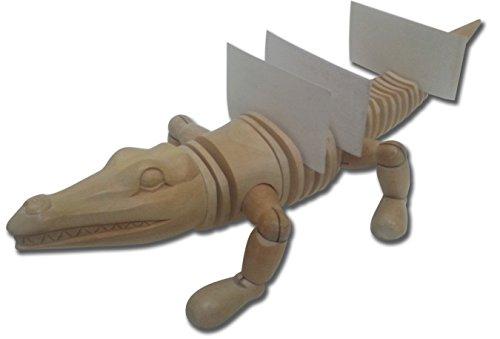 Wooden Crocodile Manikin 16