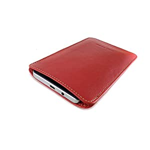 Chalk Factory Genuine Leather Mobile Case, Pouch for Xiaomi Redmi 9 Power Mobile Phone : RED