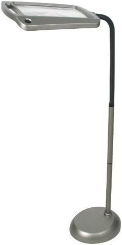 daylight24 402039-05 Full Page 8 x 10 Inch Magnifier LED Illuminated Floor Lamp