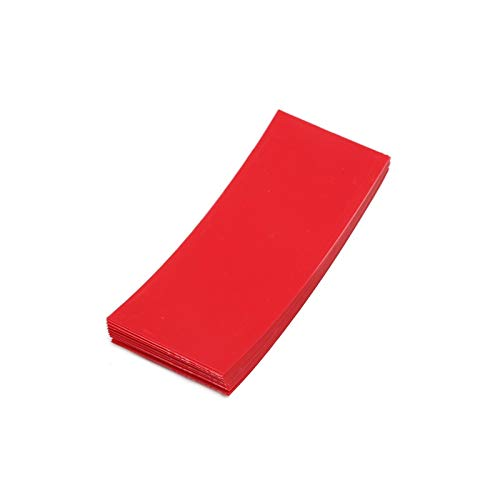 Mercury_Group, Cable Sleeves_20PCS for Li-ion 18650 Battery Wrap PVC Heat Shrink Tubing Precut for Battery Film Tape Battery Cover Shrinking Tube - (Color:Red) ()