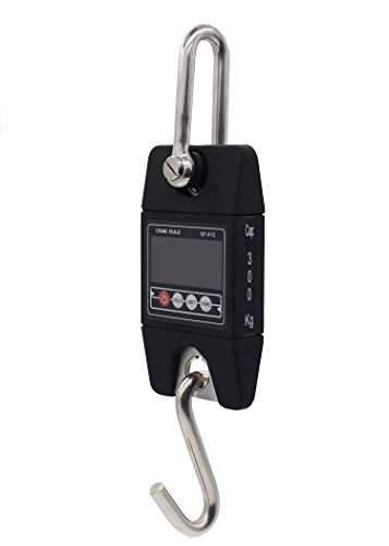Kings Hanging - T-king(TM) SF-912 Industry Crane Scale Hanging Scale Digital Kitchen Scale Weighing Tool 300kg/600LBS Black