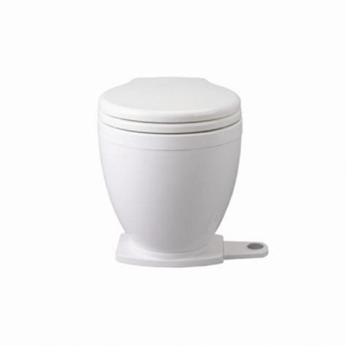 24v Electric Toilet - Jabsco Lite Flush Compact 24 Volt Marine Electric Toilet with Panel Control