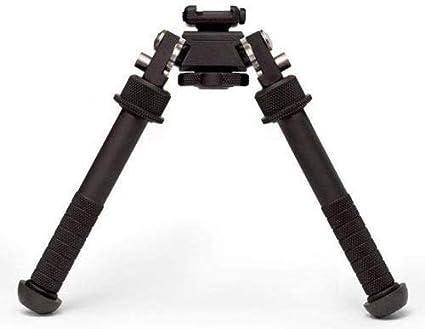 Gocheer El bípode del Rifle V8 Puede inclinarse 360 Grados, CNC al Aire Libre QD Tactical Picatinny Rail Super Heavy Duty Plegable Soporte Pies Ajustable