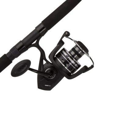 Penn Pursuit III LE 7′ Medium-Light Onepiece 3000 Spinning Fishing Combo, Black/Silver, 7′-Medium Light-1Pcs