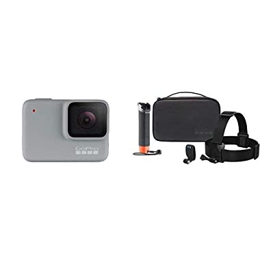 GoPro White Waterproof Digital Action Camera with Touch Screen 1440p HD Video 10MP Photos With Camera Accessory Adventure Kit,Black