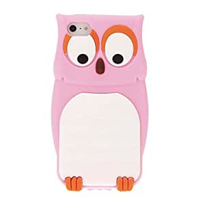 RC - Cute Owl Style Protective Silicone Back Case for iPhone 5/5s , Pink
