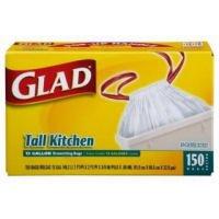 13-Gal. Tall Kitchen Drawstring Plastic Trash Bags, 150-