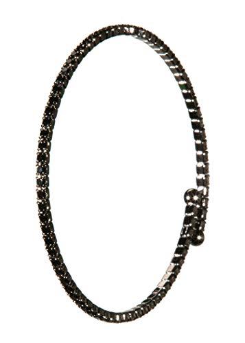 BR-1099-SS-0623 Bracelet - Single Strand - Jet Black/Hematite ()