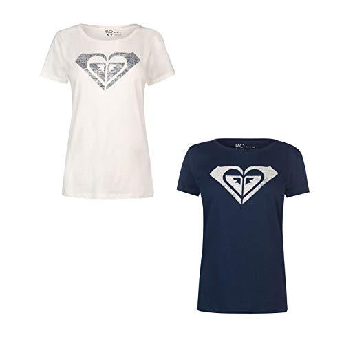 Roxy My Heart T-Shirt Womens Top Tee Shirt Casual Wear Dress Blue UK 8 (X-Small)