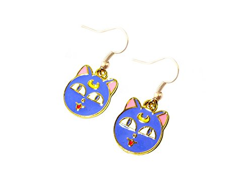Luna Cat Sailor Moon Costume (Sailor Moon Luna Cat Earring Dangles In Gift Box from Outlander)