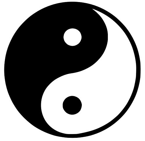 (Yin and yang Symbol Decal Sticker for Car Bumper Window Laptop Wall (4''x4'', Black))