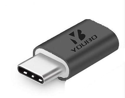 Plata YOUBO 2 Pack Micro USB a Tipo C Adaptador de Datos Conector de Carga para Samsung S8 MAX Note8 Huawei Mate 9 p9 P10 USB Adaptador de Tipo C para LG G5 xiaomi 6