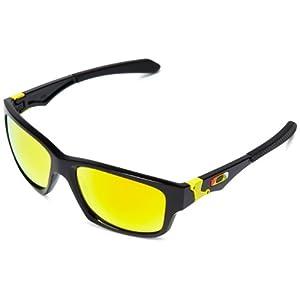 Oakley Men's Jupiter Squared OO9135-11 Sunglasses, Black/Red
