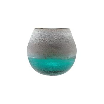 Amazon Hand Crafted Teal Glass Owl Vase Home Kitchen