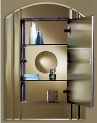 (NuTone LBC10 Le Baccarat Inspiration Collection Single-Door Recessed Medicine Cabinet)