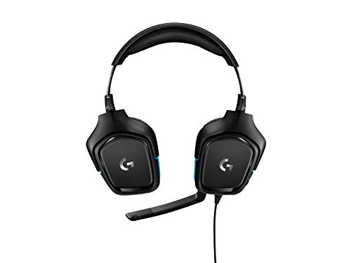 Logitech G432 Wired Gaming Headset, 7.1 Surround Sound, DTS Headphone:X 2.0, 50 mm Audio Drivers, USB and 3.5 mm Audio Jack, Flip-to-Mute Mic, Lightweight, PC/Mac/Xbox One/PS4/Nintendo Switch - Black