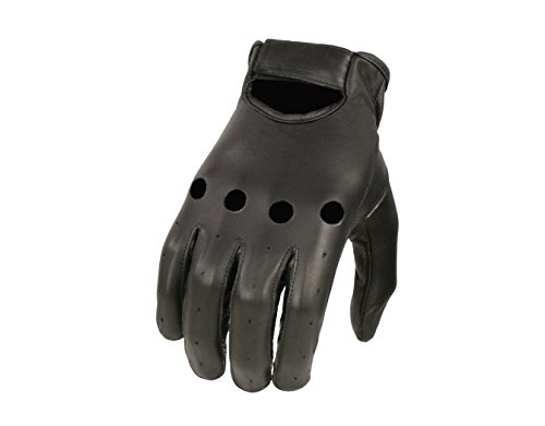 Black Driving Gloves - Shaf International Men's Basic Driving Gloves (Black, Large)