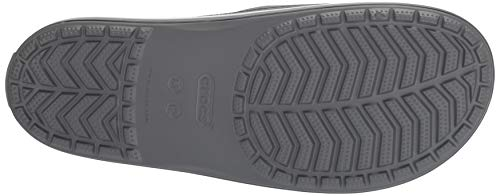 Crocband Iii Grisslate SlideSandales Adulte 07i Mixte Crocs Bout Ouvert Grey white 7ybf6g