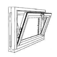 Duo-corp 3214COMP Basement Window Hopper 32''x14''