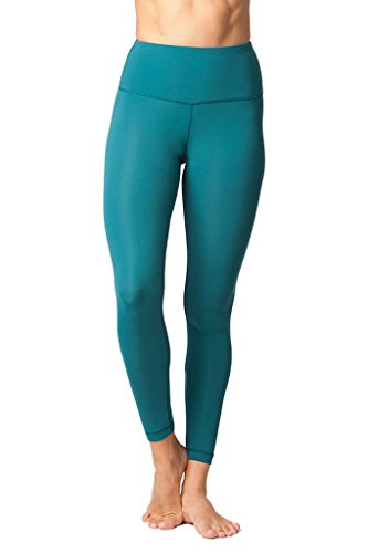 (Yogalicious High Waist Ultra Soft Lightweight Leggings -  High Rise Yoga Pants - Everglade - XL)