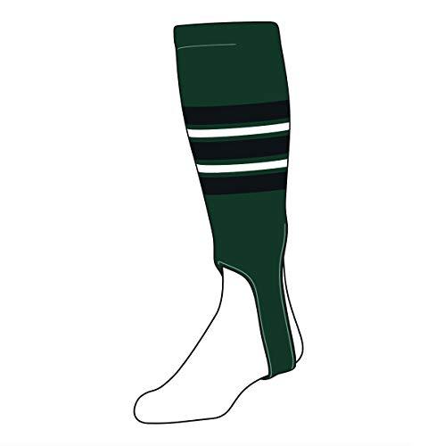 TCK Baseball Stirrups Medium (200F, 5in) Dk Green, Black, White