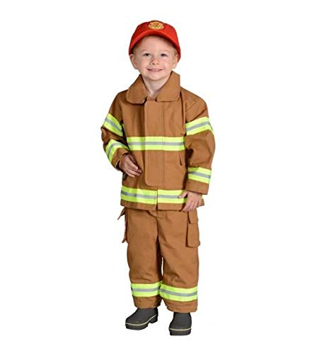 Jr. Firefighter Suit, Size 2/3 (Tan) (Choice of Helmet Sold Separately) ()