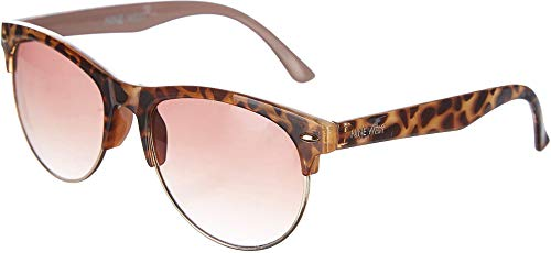 Nine West Womens Semi Rimless Brown Sunglasses One Size ()