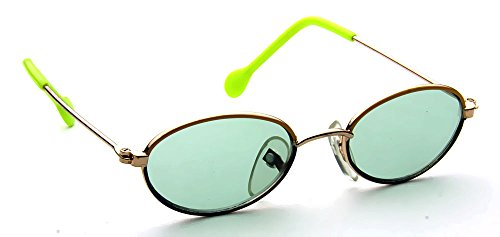 Green Lens Oval Yellow Blue Retro Shades Baby Girls Boys Fashion 0-12 Months - Eyewear Shades