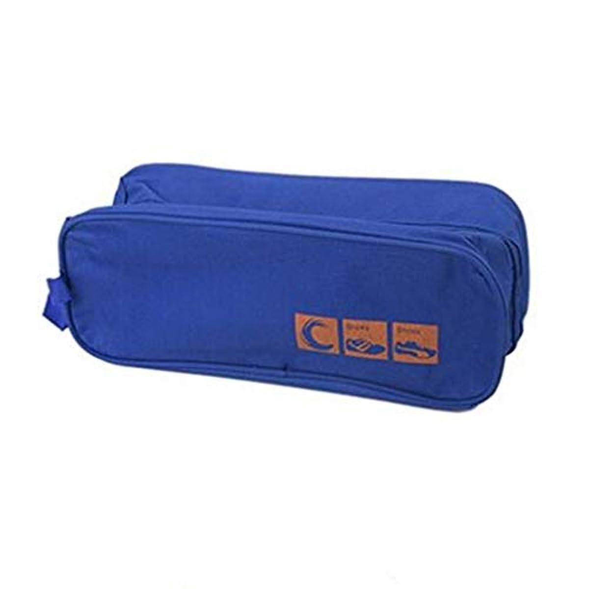 [해외] 1피스 여행화 화이트 지퍼 폐쇄 스니커즈 수납 오거나이저 방진 방수화 파우치 투명창 부착THEBIGTHUMB,블루