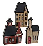 Heart of America Assorted Village House Blocks - Set of 3